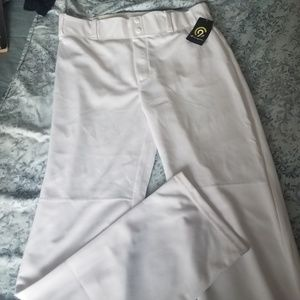 Mens nwt white baseball uniform pants